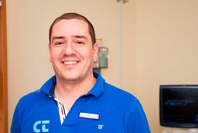 Rodrigo del Cano, Responsable de la unidad de Fisioterapia